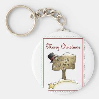 Stampin Christmas Basic Round Button Keychain