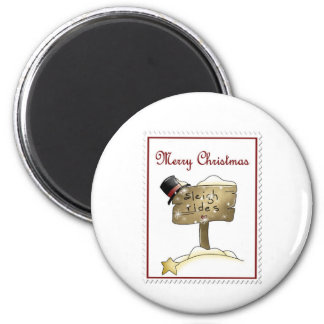 Stampin Christmas 2 Inch Round Magnet