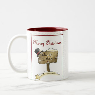 Stampin Christmas Two-Tone Coffee Mug