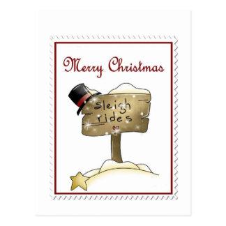 Stampin Christmas Postcard