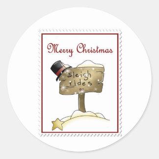 Stampin Christmas Classic Round Sticker