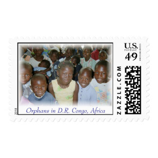 Stamps - 20 Orphans D.R. Congo, Africa