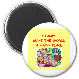 stamps 2 inch round magnet