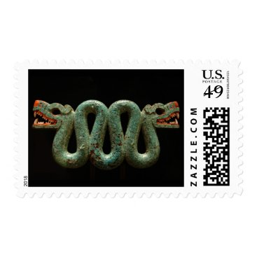 Aztec Themed Stamps: Aztec serpent broach Postage