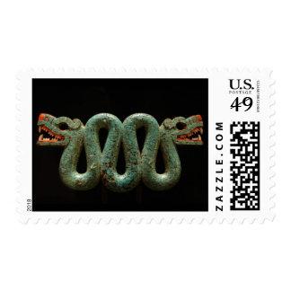Stamps: Aztec serpent broach