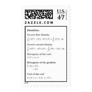 Stamps: basic identities of vector calculus postage