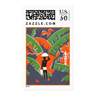 STAMPS - Colorful Vintage Travel Amazon RainForest