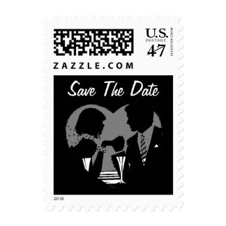 Stamps Couple In Heart Save The Date Wedding date