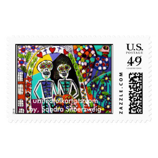 Stamps/ Day of Dead Wedding. Postage