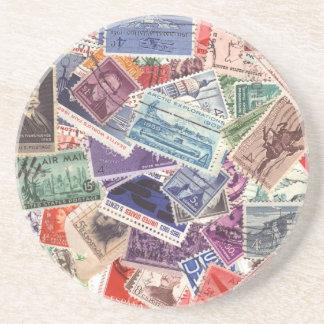 Stamps Drink Coaster
