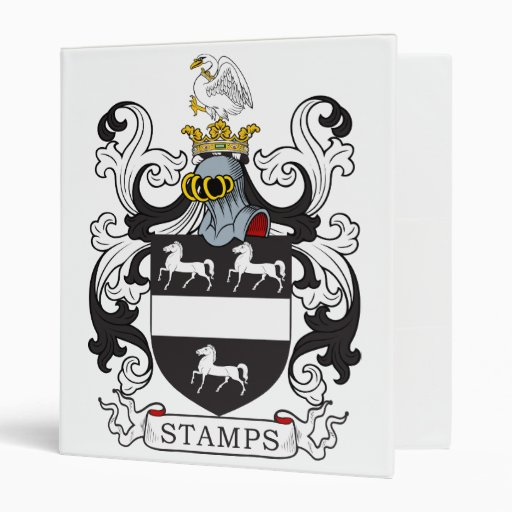 Stamps Family Crest 3 Ring Binders