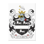 Stamps Family Crest Canvas Prints