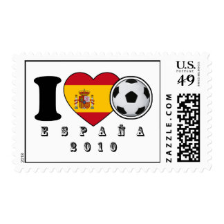 "Stamps for Champs: Spain Heart + ""ESPAÑA 2010 """