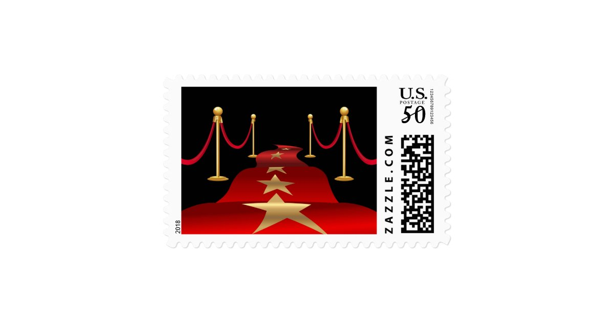 Stamps for your Red Carpet Themed Party Invitation | Zazzle.com