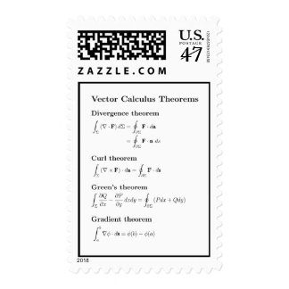 Stamps: foundation theorems from vector calculus postage