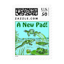 Stamps Frogs Move A New Pad! Moved Address Change