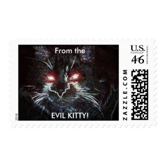 Stamps from the, EVIL KITTY!