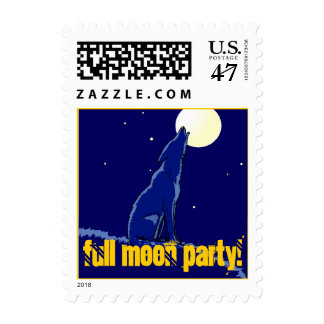 Stamps Full Moon Party Stamp Howling Coyote Night