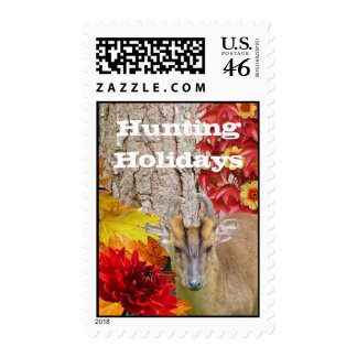 Stamps Hunting Holidays Christmas Deer Wood Forest