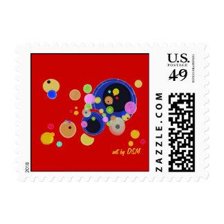 Stamps -- Kandinsky inspired art by DSM