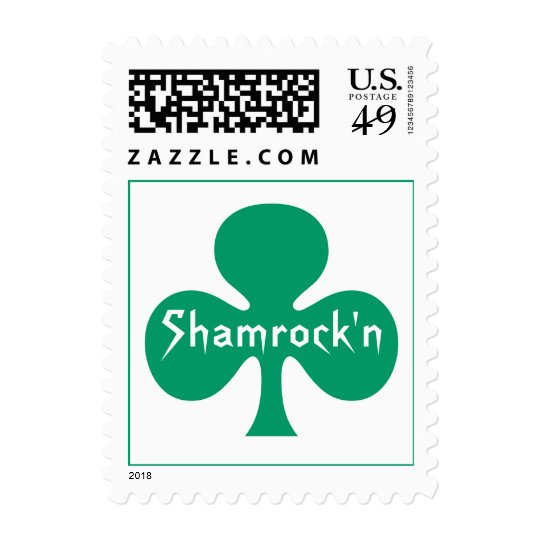 Stamps Kelly Green Shamrock Shamrock'n Luck stamp