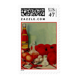 STAMPS KITCHEN STILL LIFE TOMATOES KETCHUP ONIONS