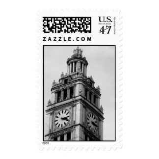Stamps-Love Art House-Vintage Architecture 2 Postage Stamp