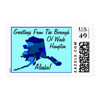 Stamps Map Greetings From Alaska Your borough