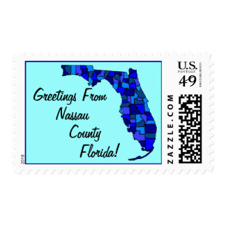 Stamps Map Greetings From Florida Your county