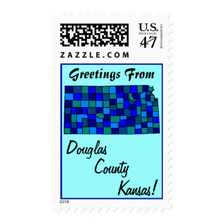 Stamps Map Greetings From Kansas KS your county