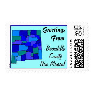 Stamps Map Greetings From New Mexico State county