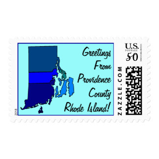 Stamps Map Greetings From Rhode Island Your county