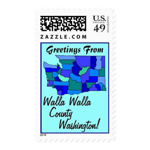 Stamps Map Greetings From Washington Your county