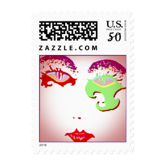 Stamps Mardi Gras make-up New Orleans Party Stamp