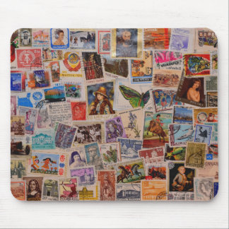 Stamps of the world - mouse pad