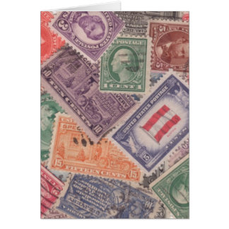 Stamps on Notecards Greeting Card
