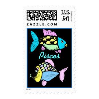 Stamps Pisces Koi Fish Carp Colorful Aquatic Life