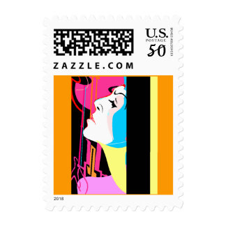 "Stamps ~ Pop Art Abstract ""Member of the Band"""