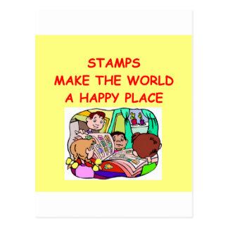 stamps postcard