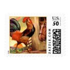 STAMPS Rooster Wake Up Call Horse Pal Farm Morning