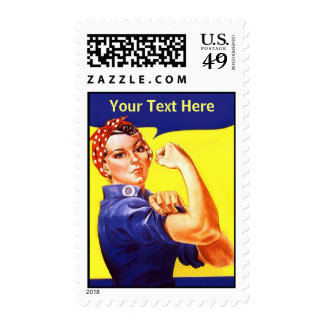 Stamps Rosie The Riveter ~ Customize W/ your text