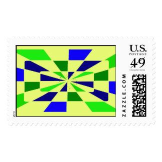 stamps set of us postale service  deep bleu and gr