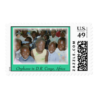 Stamps (smaller) - 20 Orphans D.R. Congo, Africa