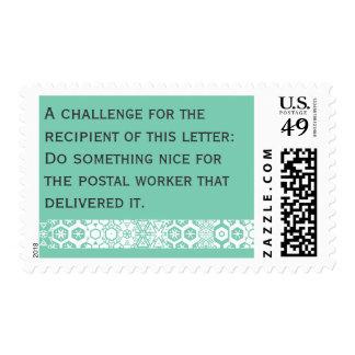 Stamps that spread good deeds