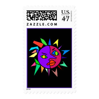 Stamps to match Party Invitation - Abstract Pair