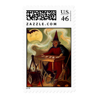 Stamps to match Party Invitation -HALLOWEEN SCENE
