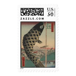 Stamps-Vintage Japanese Art-Ando Hiroshige 4 Postage