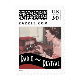 Stamps Vintage Radio Revival Business Promo Stamp