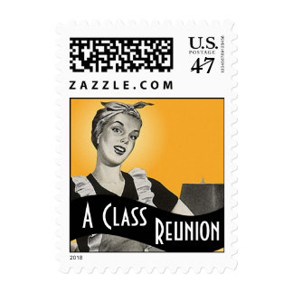 Stamps Vintage Style Retro A Class Reunion Stamp