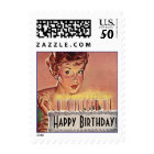 Stamps Vintage Style Retro Birthday Greeting Stamp
